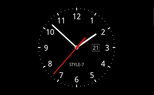 free download analog clock wallpaper for mobile